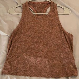 maroon cropped muscle tank
